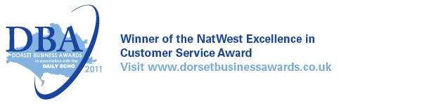 Dorset Business Customer Service Award logo
